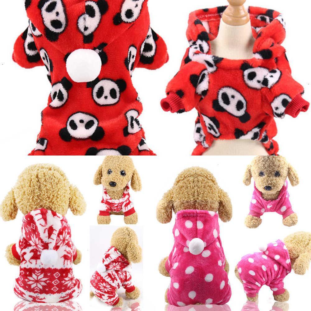 Ropa para mascotas para perros Cat Puppy Sudaderas con capucha Abrigo Sudadera de invierno Suéter caliente Trajes de perro XS / S / M / L / XL / XXL GGE2155 11 0LOI