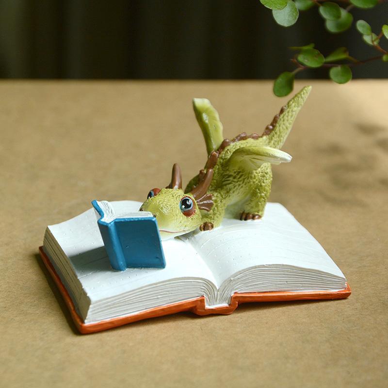 Everyday Collection Miniature Fairy Garden and Terrarium Mini Dragon Rex The Green Dragon Collectible Fantasy Figurine C0220