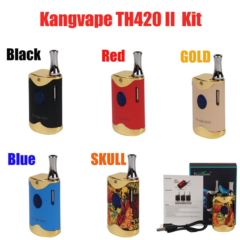 Оригинальные наборы стартера Kangvape TH-420 II 650MAH TH420 2 Battery Box Mod 0.5 мл K1 керамический толстый масляный картридж танковый комплект 100% аутентичные VS Bang XXL