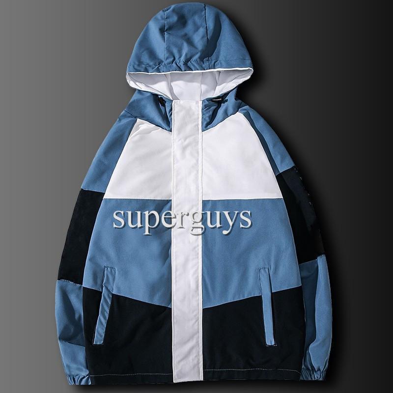 Erkek Ceket Hip Hop Rüzgarlık Moda İlkbahar Sonbahar Rahat Ceketler Erkek Kadın Streetwear Giyim Ceket Hip Hop Ceketler Yüksek QualityJK2101