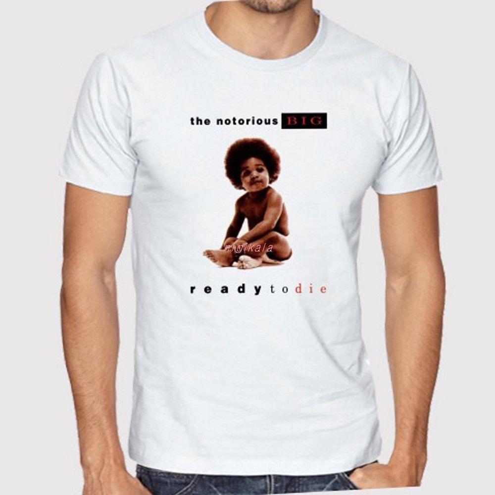 Das berüchtigte große Big Ready Die Album-Männer-Weiß-T-Shirt-Größe S bis 3XL Sommer-Kurzärmeln Mode T-shirt freies Verschiffen