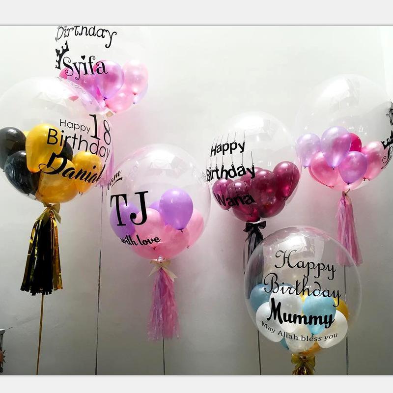 클리어 호일 헬륨 공기 풍선 크리 에이 티브 보보 풍선 웨딩 샤워 크리스마스 새해 생일 파티 장식 투명한 baloons 키즈 장난감 160 Y2