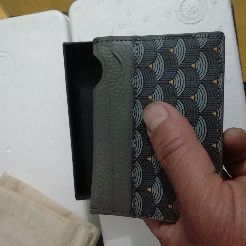 Новые трехмерные художественные рыбные масштабы держатель карты на полоску напечатанный кожаный кошелек FLP держатель карты