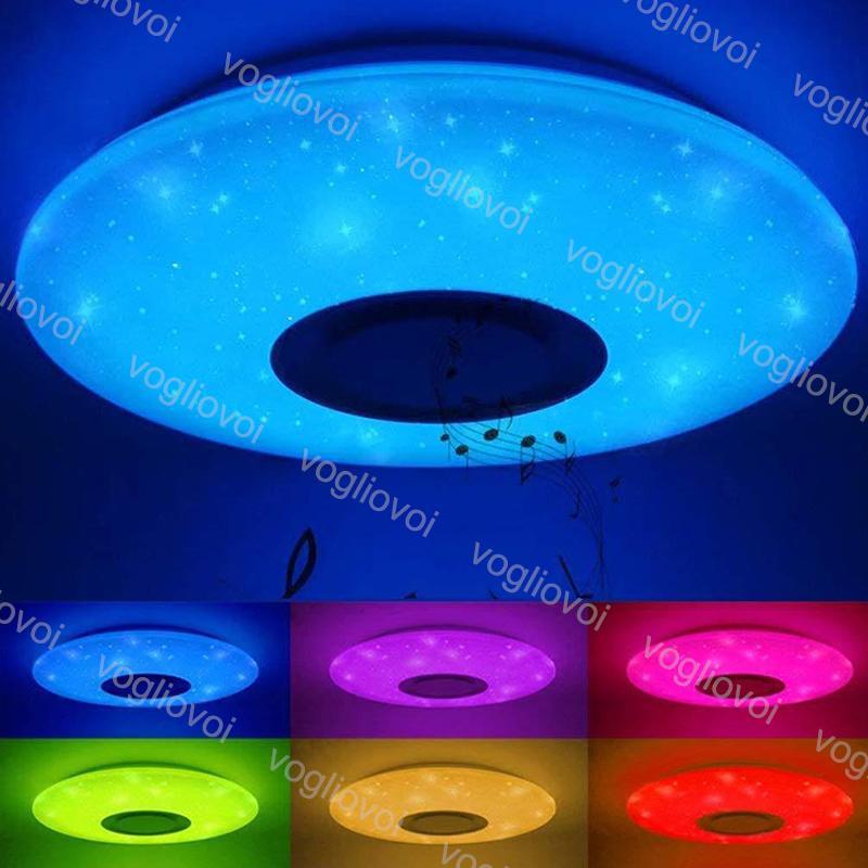 천장 조명 33cm 40cm 50cm 3 색 / RGB 디 밍이 가능한 음악 RemoteApp 컨트롤 AC185-240V 가정용 블루투스 스피커 조명기구 DHL