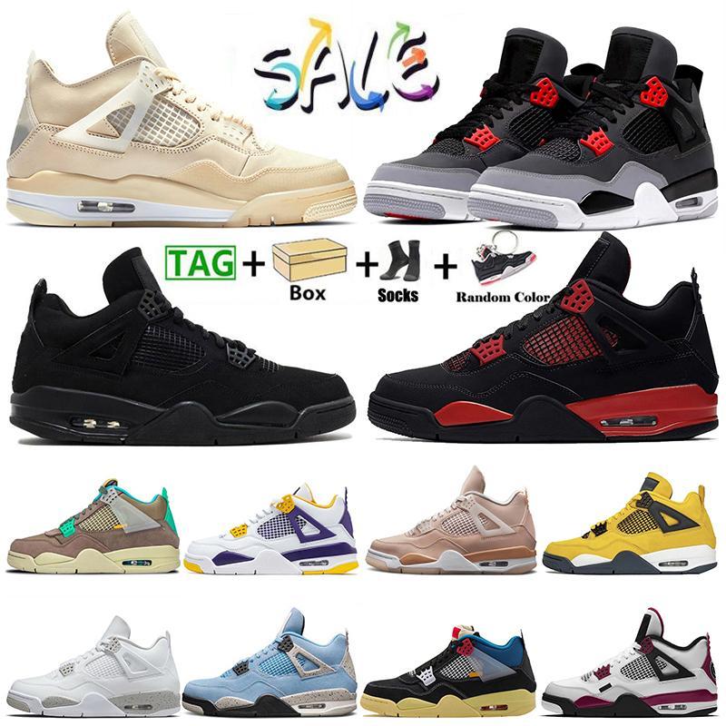 2021 Mit Box Nike Air Jordan Retro 4 Jumpman 4s Taupe Haze Damen Herren Basketballschuhe Segel Starfish University Blue Sneakers Sporttrainer Größe Eur 47