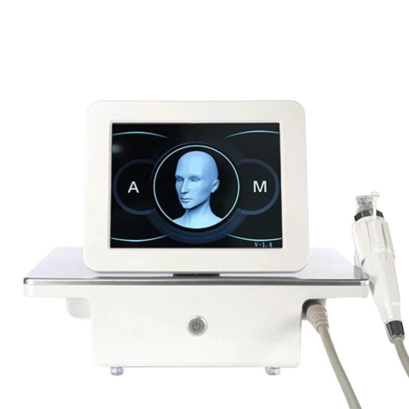 تصميم جديد rf microneedle العناية بالوجه الذهب مايكرو إبرة الجلد الأسطوانة ندبة تمتد علامة إزالة العلاج المهنية صالون التجميل آلة
