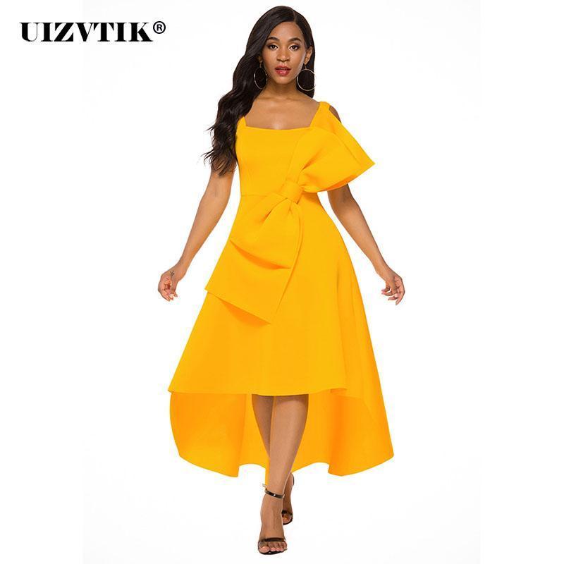 Casual Dresses Große Fliege Bankett Frau Kleid 2021 Sommer Vintage Sexy Asymmetrie Ball Kleid Lange Party Frauen Slim Maxi
