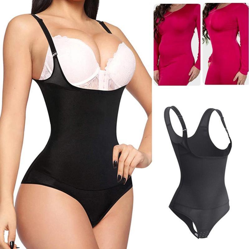 Feminino treinador de cintura shapewear tanga bodysuit sem costura controle de barriga de barriga calcinha faja abre busto corpo shaper espartilho espartilho