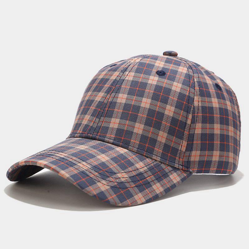 4 colors Fashion Plaid Baseball Korean Caps Spring Summer Autumn Winter Men Women Streetwear Snapback Hip Hop Cap Trucker Hat Plaid LLA395