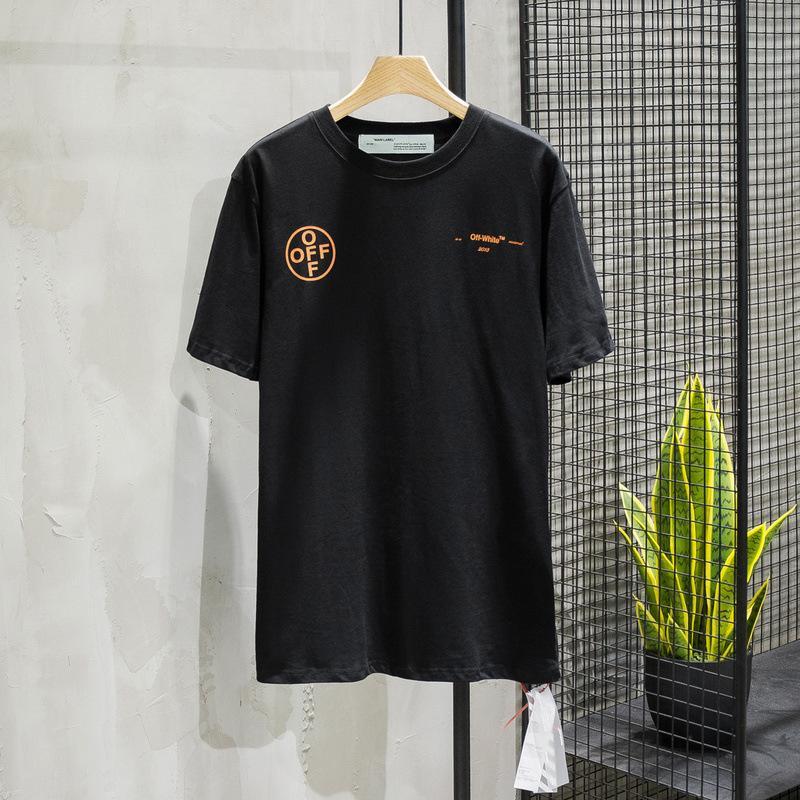 Summer Fashion Brand Youth Cotton Arancione Arrow T-shirt T-shirt manica corta