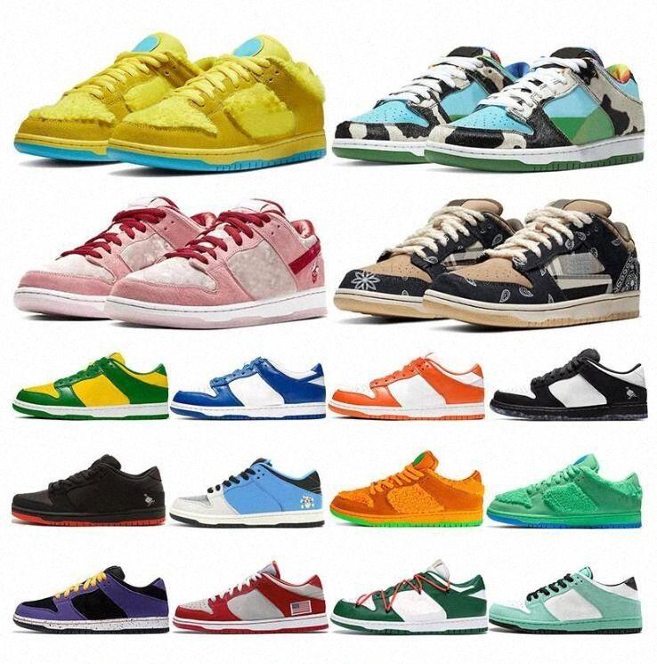 2021 SB Dunk Tıknaz Dunks Travis Scotts Erkekler Eğitmenler Kadınlar için Kaykay Rahat Ayakkabılar Turuncu Ayılar Kentucky Açık Spor Sneakers 36 N6ZW #