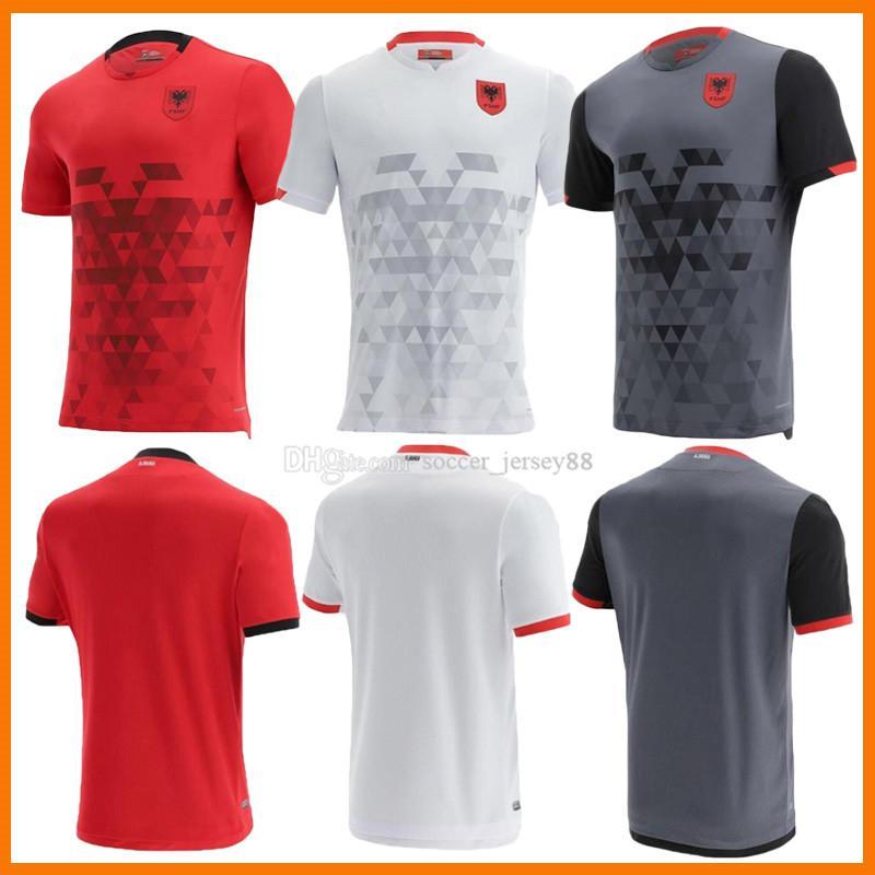 2021 2022 Albânia Futebol Jerseys 21 22 2021-22 Home Away Terceiro Homens Kit Tamanho S-XXL Camisas de Futebol Camisa de Futebol Branco Camiseta Uniformes
