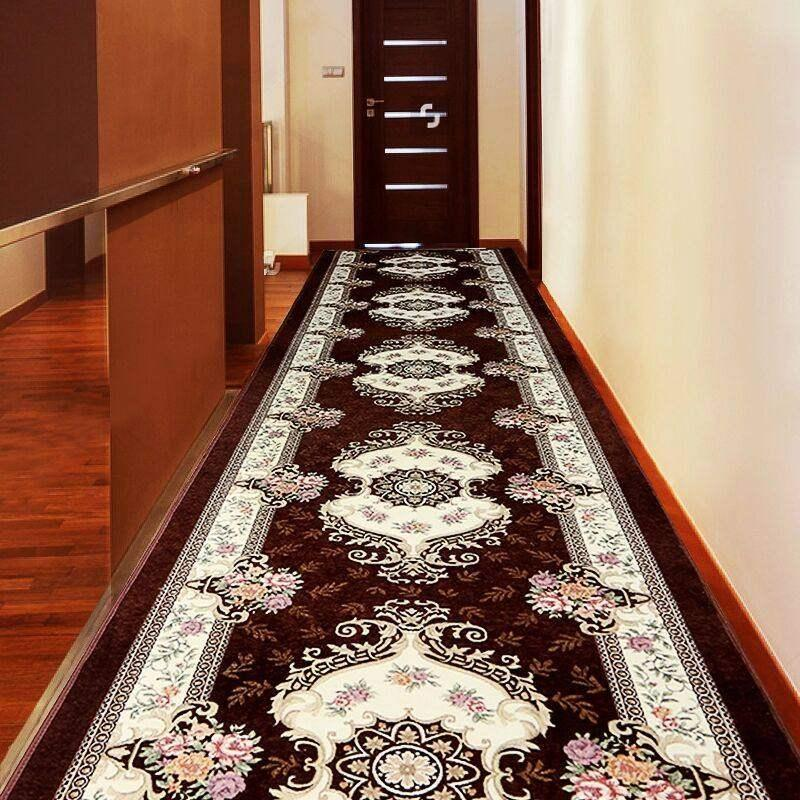 Europa-Korridor-Halle-Teppiche Hotel-Long-Gang-Rug-Home-Eingang Runners-Teppich Anti-Rutsch-Küchen-Treppen-Teppich-Hochzeitsboden-Teppiche