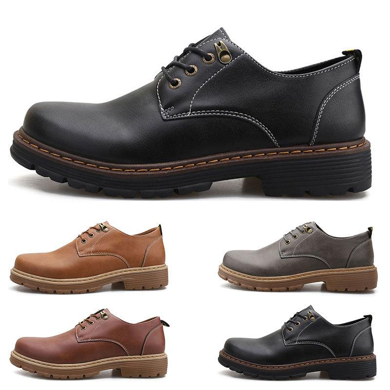 Moda Büyük Boy 38-44 Yeni erkek Deri erkek Ayakkabı Gezegenler İngiliz Rahat Ayakkabılar Ücretsiz Kargo Espadrilles Dört