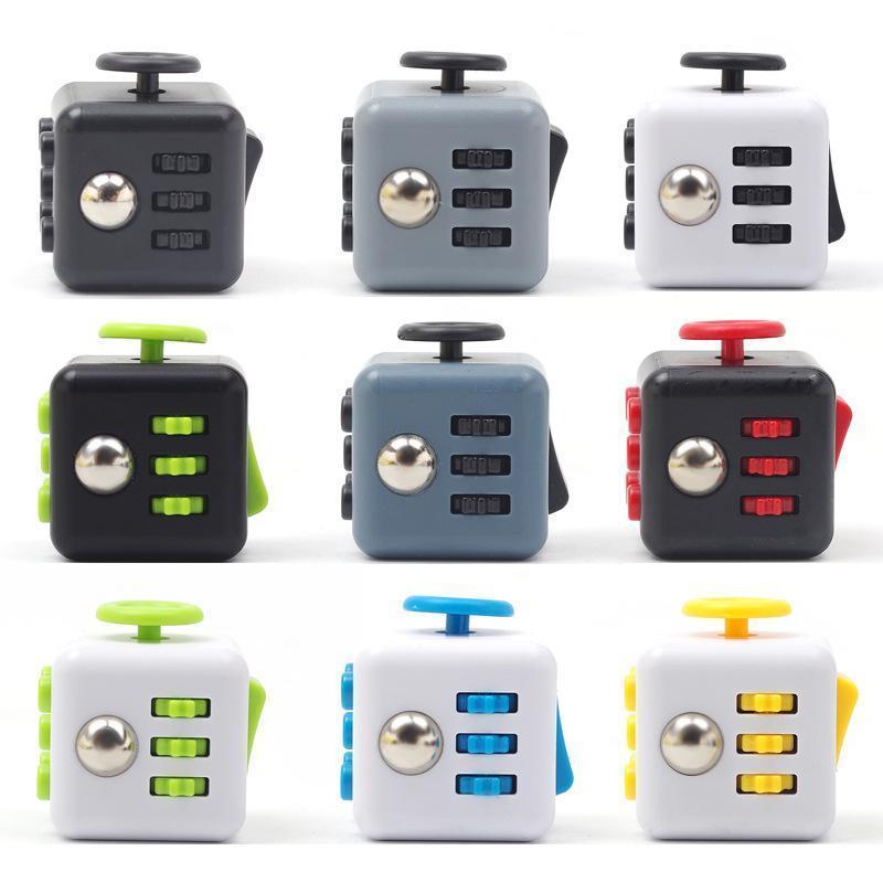 2021 Zappel Cube Stress Relief Spielzeug Sinnes Zappeln Spielzeug für Kinder Erwachsene Zappeln Sensory Spielzeug Autismus Sonderbedürfnisse Angst Stress Reliever FY746