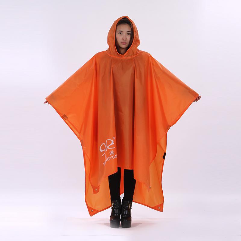 3 in 1 Notfallwasserdichte Regenmantel Poncho Picknick Pad Raincoat Zelt für Camping Wanderreisen