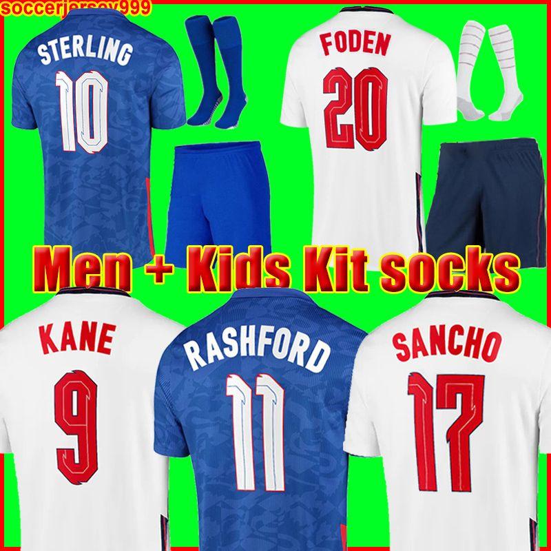 ENGLAND  قميص إنجلترا لكرة القدم 2020 2022 كان سترلينغ راشفورد سانشو هندرسون باركلي ماغوير 20 22 قمصان كرة قدم وطنية للرجال + أطقم أطفال أطقم الزي الرسمي