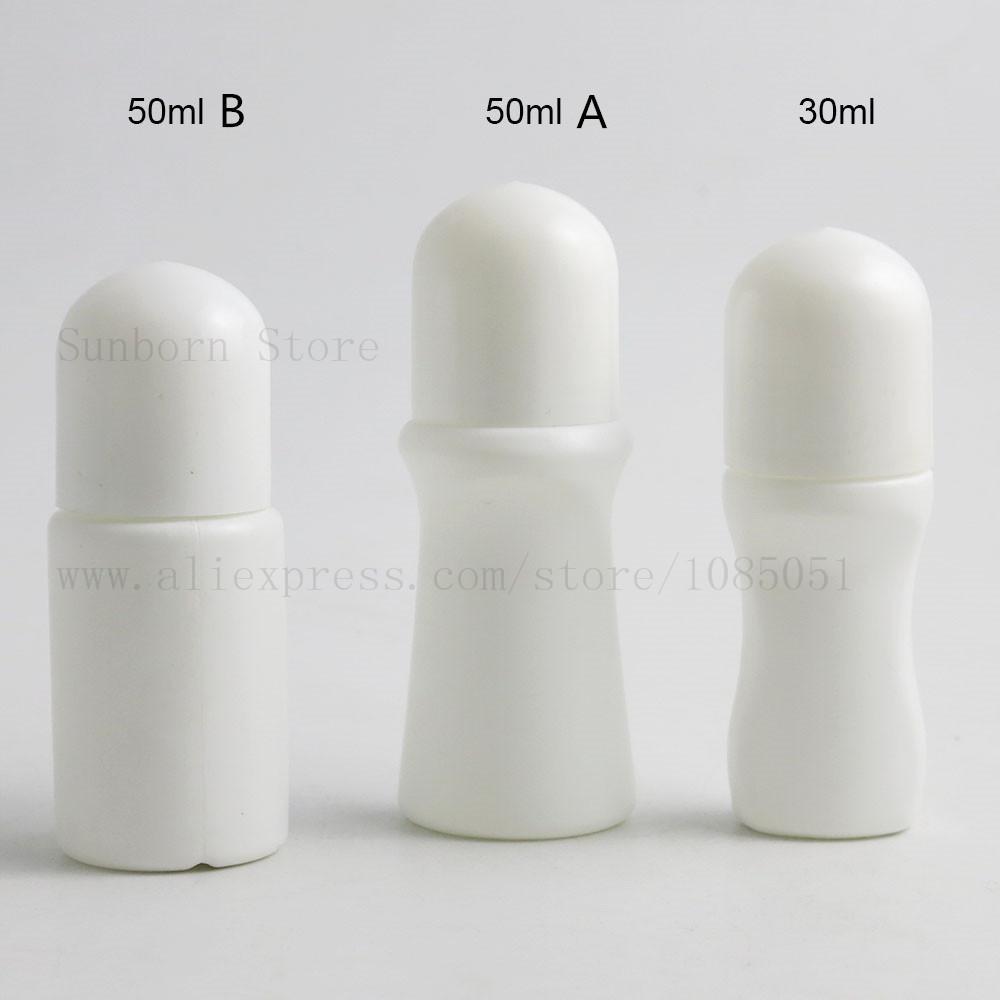 30ml 50 ml de plástico enrollable en botellas 30cc 50cc desodorante contenedor de rollo cosmético con bola de rodillo grande 300pcs
