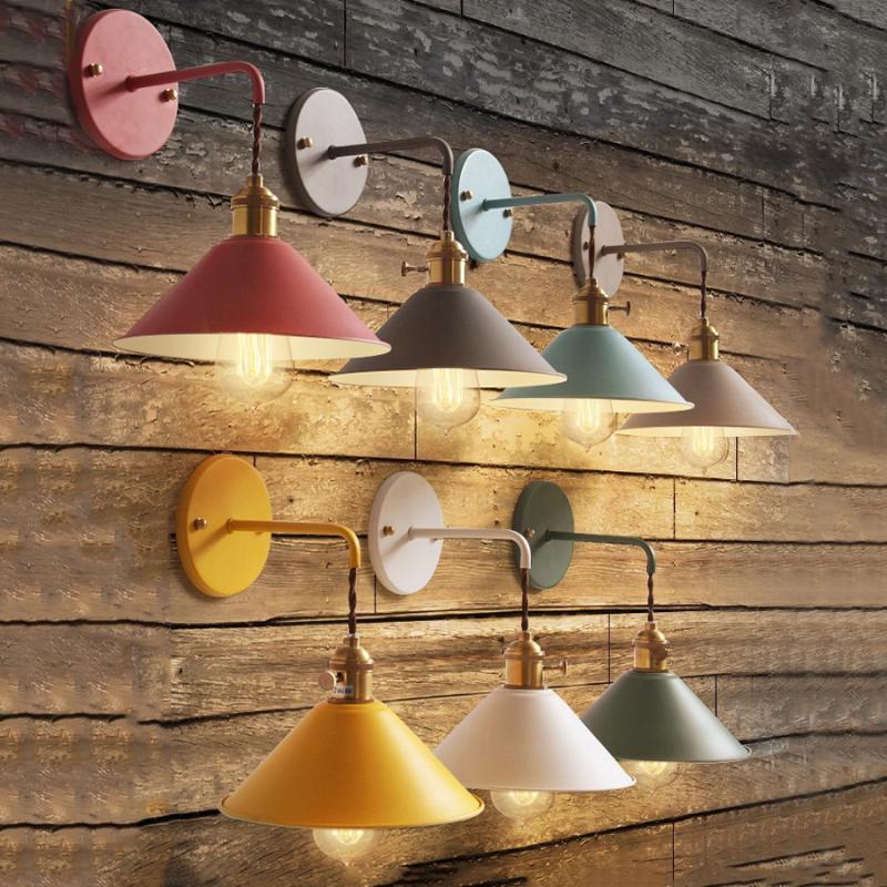 Modern einfache Nachttisch Wandleuchte Nodic Country Home Decoration Eisen Wandleuchte für das Essen Wohnzimmer Cafe Bar Restaurant Shop