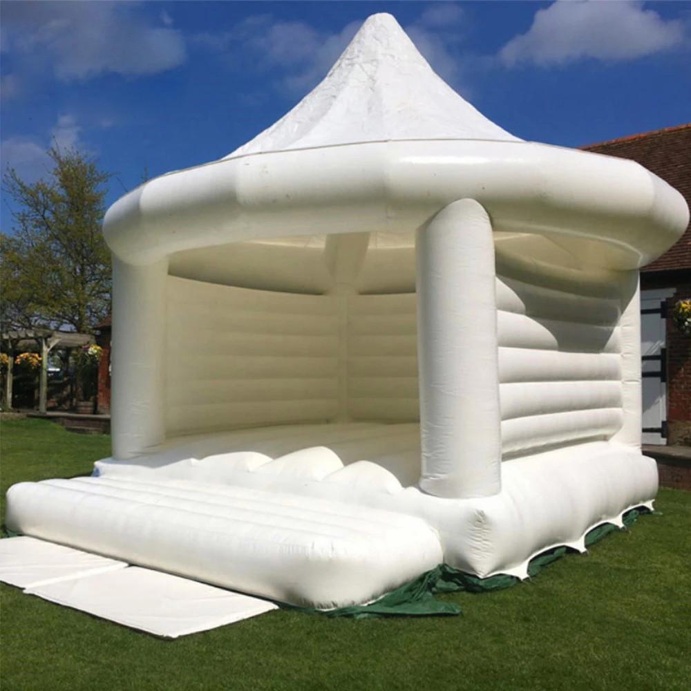2 أنواع 5x4 متر الأبيض خيمة نفخ الزفاف القفز نطاط منزل القلعة حزب الأميرة حفلات الزفاف كذاب الترامبولين للبيع