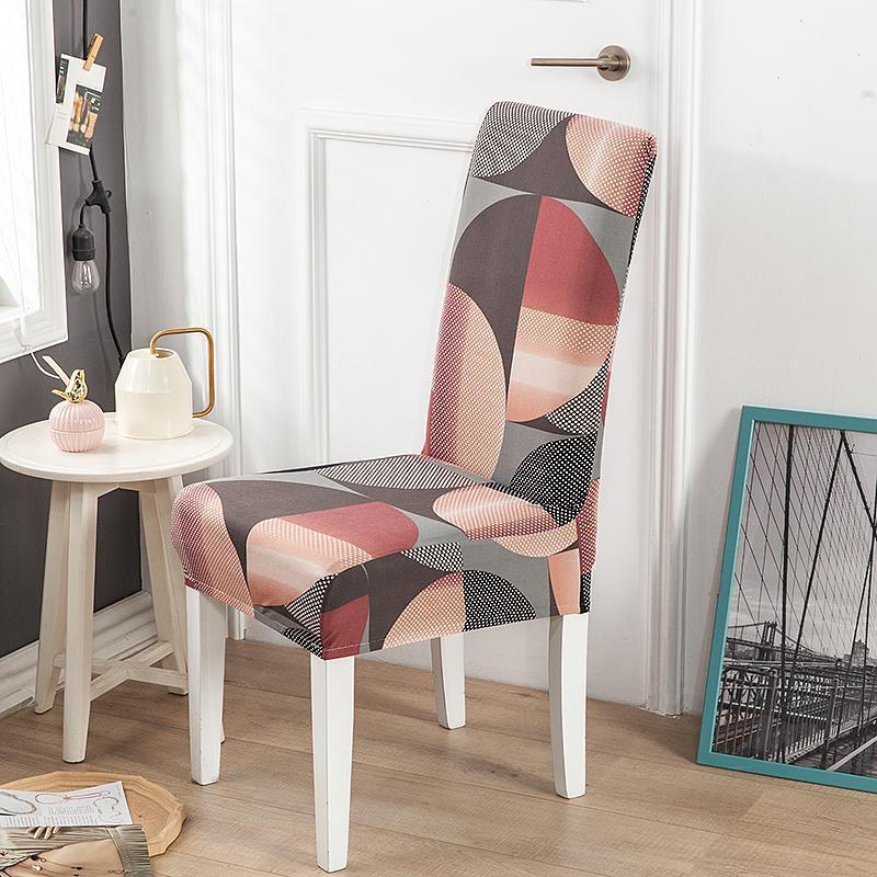 Стул охватывает геометрические спандекс охватывает эластичные эластичные чешуйки сиденья для столовой кухня свадебный банкет EL