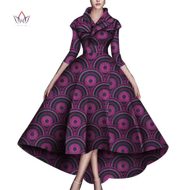 Дасики Африканские платья для женщин Свадьба Африканские Платья для женщин Длина Лодыжки Длина Платье Африканская Женщина Одежда WY5951