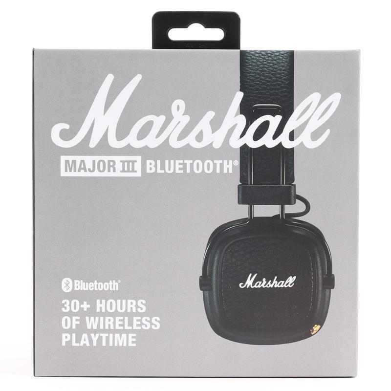 Marshall Major III 3.0 Bluetooth اللاسلكية على سماعات الأذن للطي العميق باس الضوضاء عزل ستيريو هاي فاي الألعاب سماعة