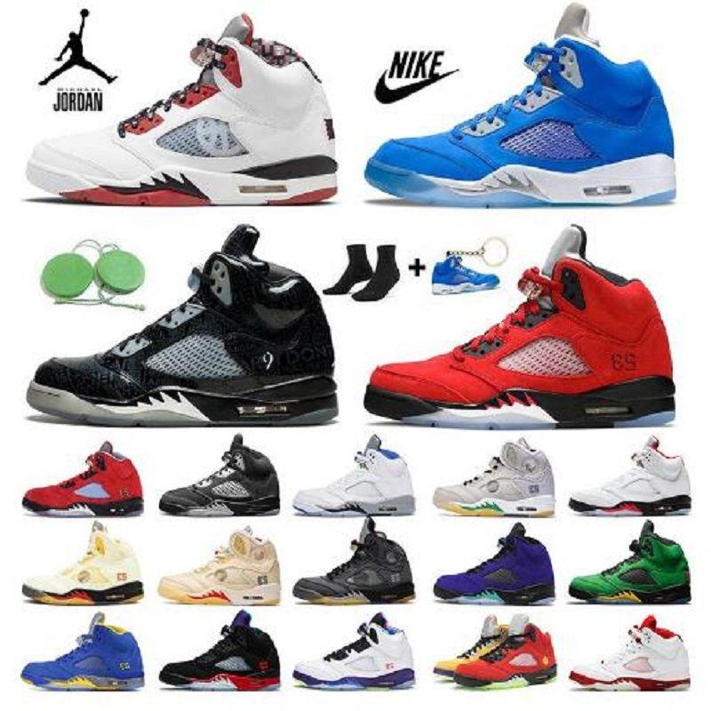 Jumpman Jordan 5 5S TOP 3 أحذية رجالي كرة السلة 11S النار الأحمر ميشيغان الريدرين أسود العنب الطازج الأمير الأحذية musllin الساتان bred أحذية رياضية