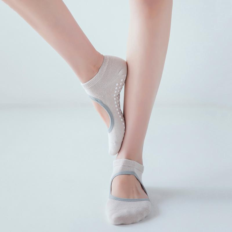 Силиконовые нескользящие женские йоги носки горячие дышащие анти-фрикционные пилатесы Barre дышащие спортивные танцевальные носки тапочки с ручками
