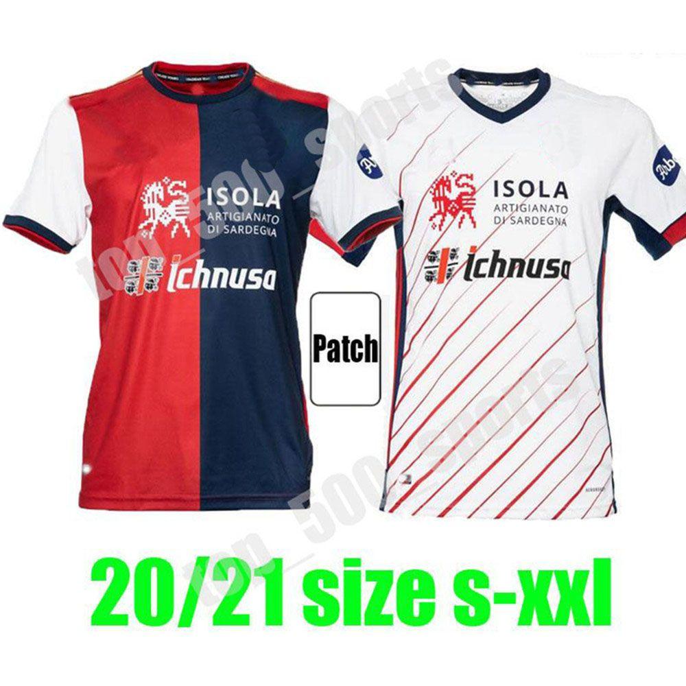 20 21 Cagliari Calcio Soccer Jerseys 홈 멀리 Joao Pedro Nainggolan Pavoletti 2020 2021 Nandez Pellegrini Maglie da 축구 셔츠 태국