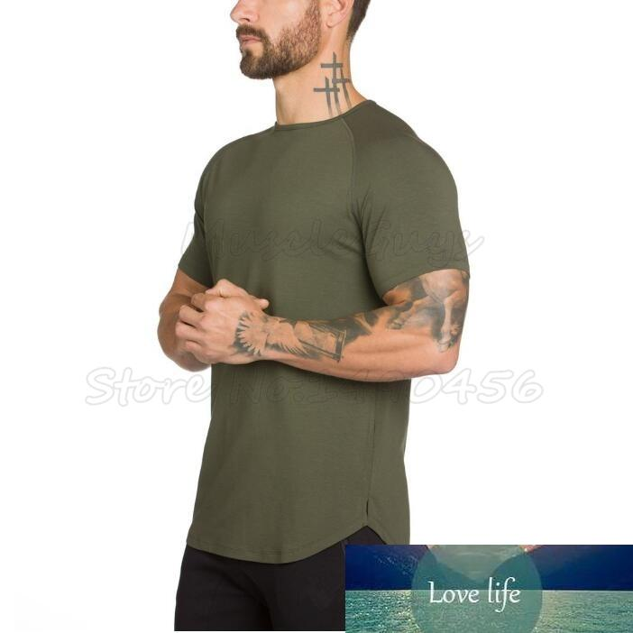New Brand clothing Gyms Tight t-shirt mens fitness t-shirt homme t shirt men fitness slim fit Summer muscle guys tops