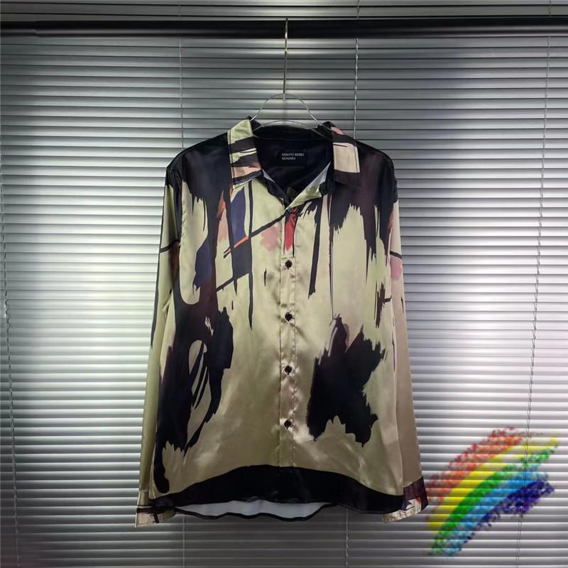 Erd Рубашка Женщины Мужчины 1: 1 Лучшее качество Британская уличная одежда Меланхолия богатая второго поколения Абстрактное искусство Tees E.R.D Рубашки платье C0304