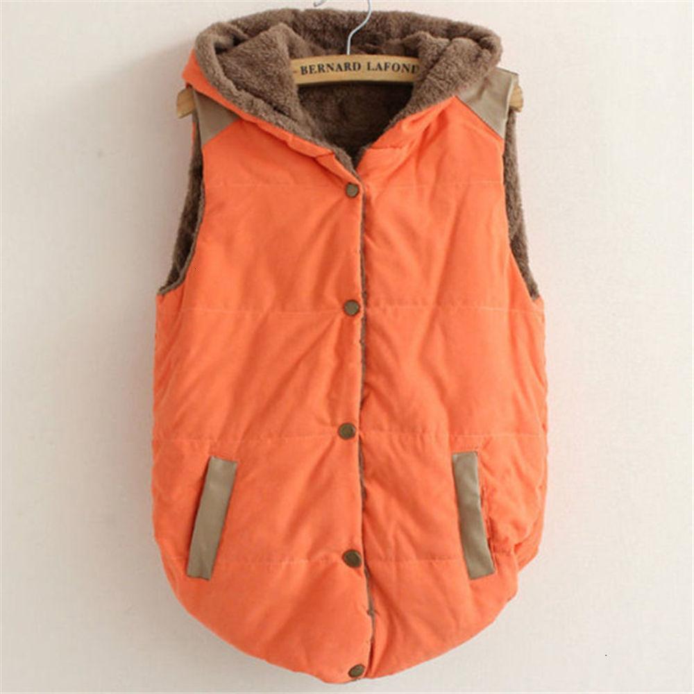 Fashion Womens Hoodie Vest 2021 Top Quality Super Cozy pullover Hoodies Gilet Down Vest Jacket Winter Coat