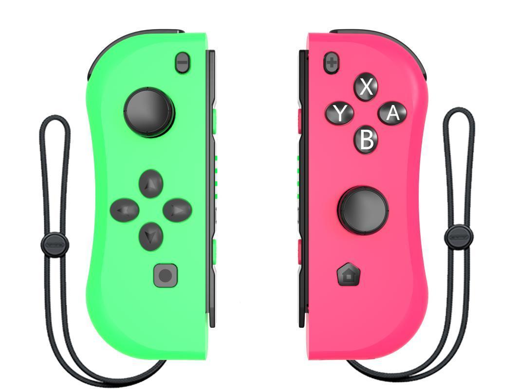 تحكم لعبة المقود الوردي والأخضر ل NS (L / R) اللاسلكية بلوتوث 11 اللون gamepad عصا التبديل وحدة التحكم