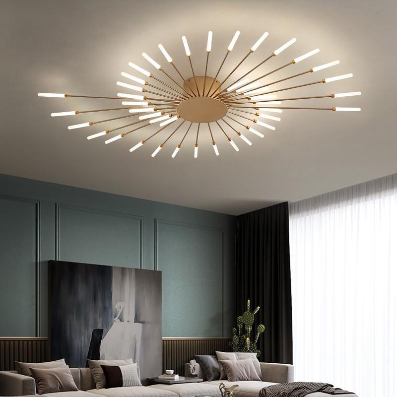 2021 New Modern Lighting Black/gold Led Chandelier Dining Bedroom Living Room Decor Fixture Light Restaurant Hanging Lamp Qgzb