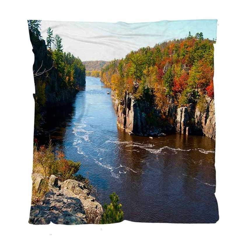 Coperte, autunno autunno autunno caldo flanella coperte in pile soft solido sul fiume St Croix, bambino adulto coperta aria condition