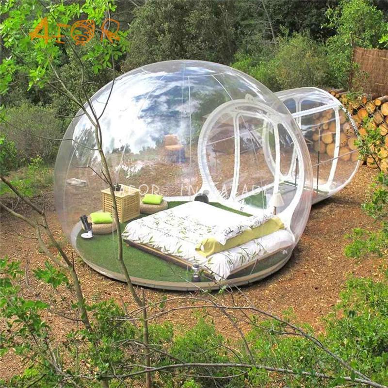 في الهواء الطلق النوم التخييم Igloo خيمة نفخ خيمة واضحة، نفخ فندق فقاعة
