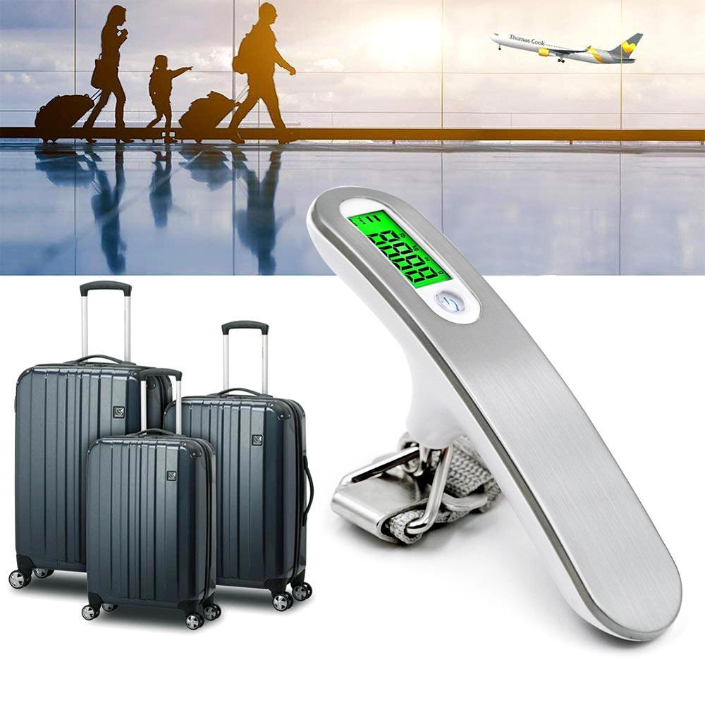 50kg Bilancia per bagagli digitali 10G Portatile Bilancia elettronica Portable Bilancia del peso Bilancio Valigia Viaggio Appeso Steelyard Gancio
