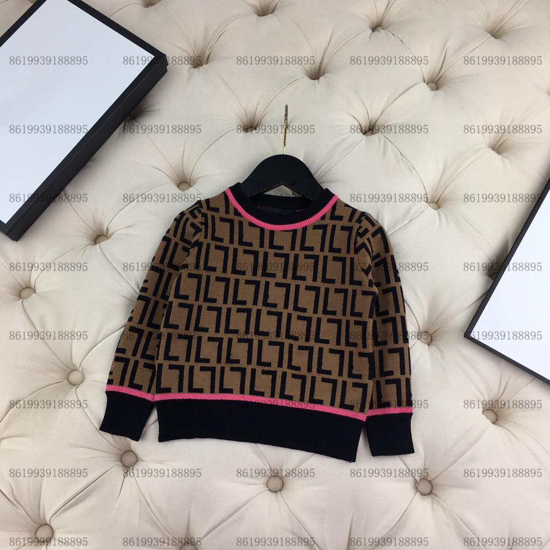 Lüks Bebek Çocuk Hırka F Kazak Çocuk Sonbahar Tasarım Örme Ceket Uzun Kollu Aşınma Boyutu 100-160 Kahverengi