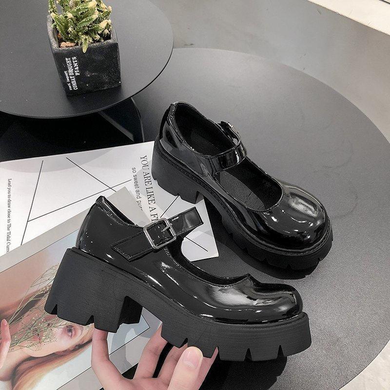 Lolita Schuhe Frauen Japanische Stil Vintage Weiche Schwester Mädchen High Heels Wasserdichte Plattform College Student Cosplay Kostüm Schuhe