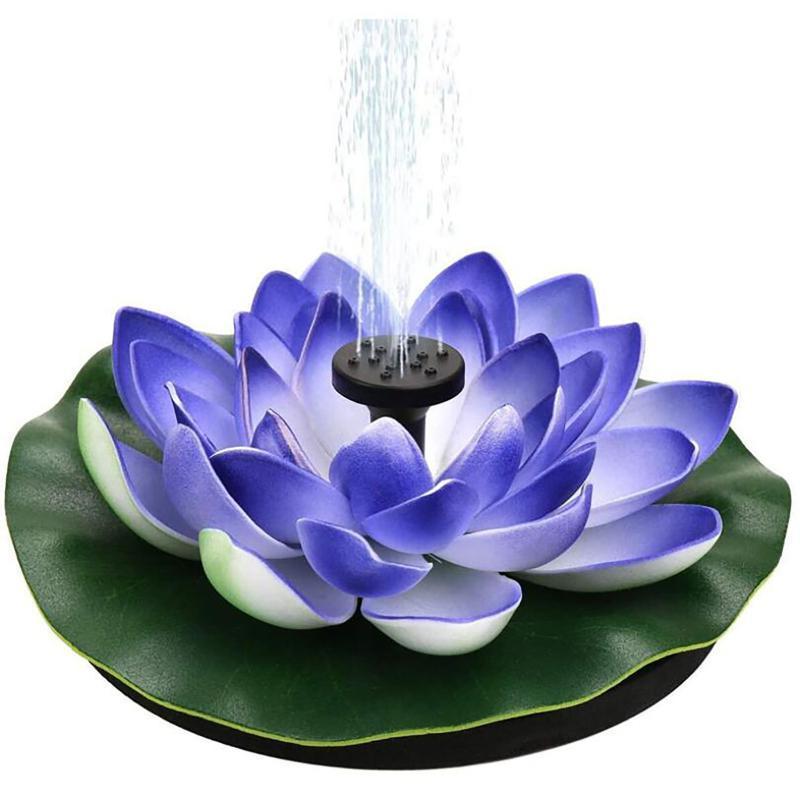 40 # Mini Garden Solar Agua Fuente de agua Piscina Cascada Fuente Fuente de decoración al aire libre Baño de aves Agua flotante