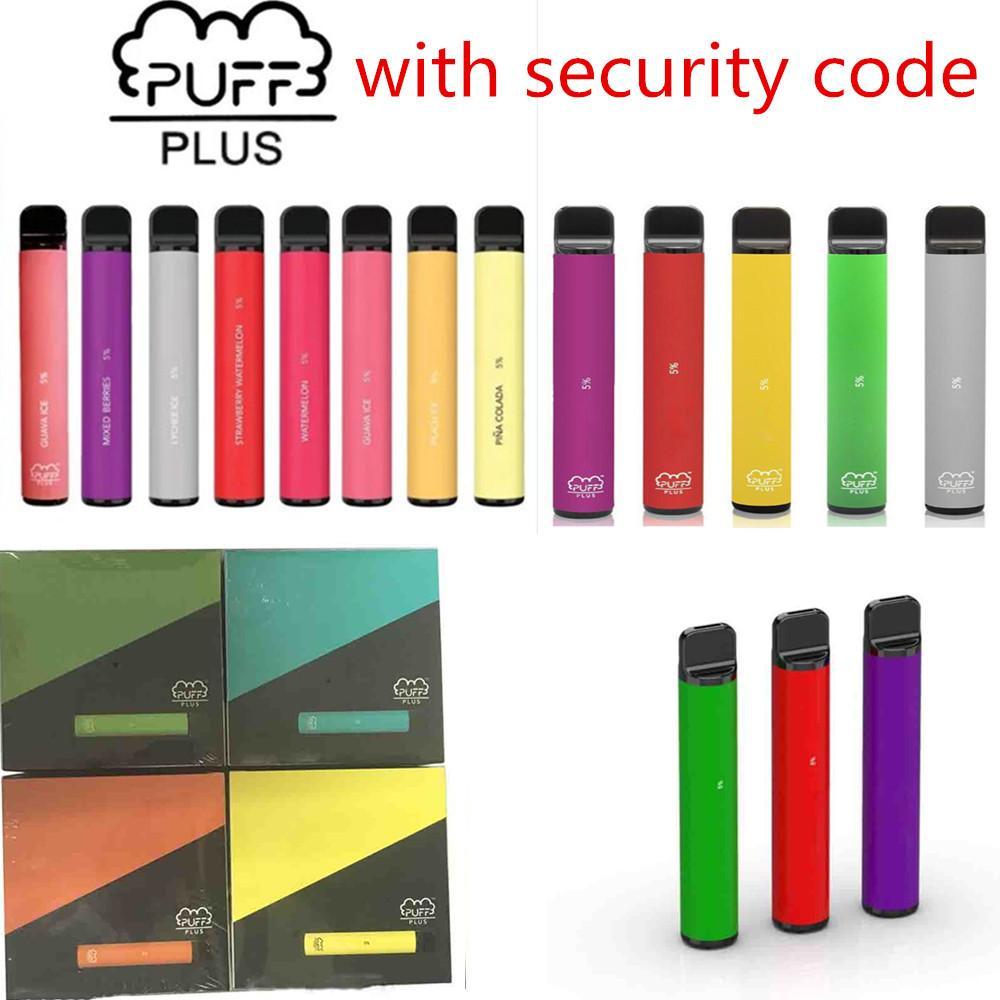 Ecigarettes desechables Vapes Cigarrillo electrónico 800 + Puff Bar Plus Dispositivo Vape 550mAh Barras de batería 800+ Puffs 3.2ml POD Bang XXL 84 Color