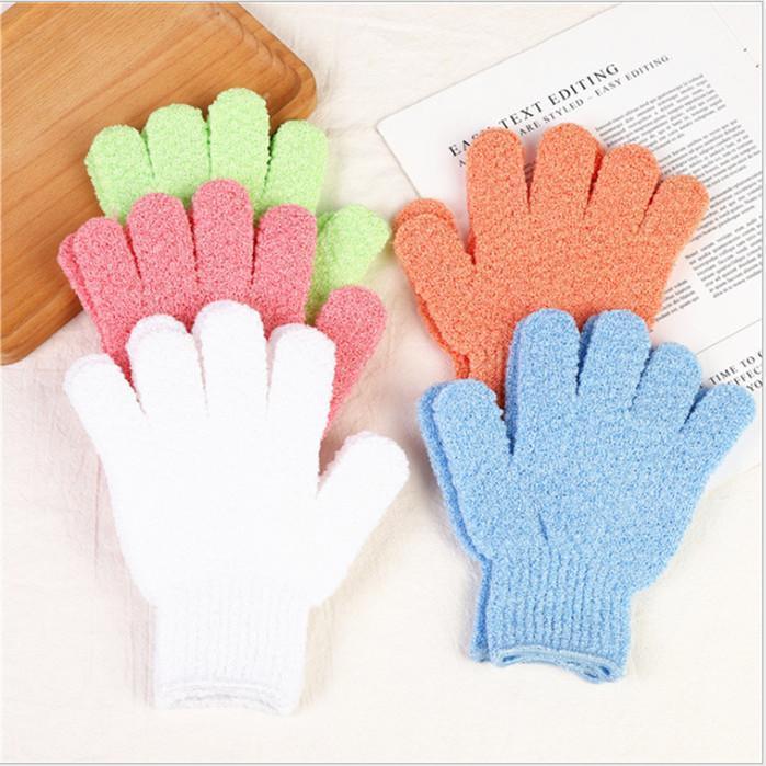 Care Cloth Bath Glove Mitten Exfoliating Gloves Cloth Scrubber Face Body Fashion Moisturizing Spa Skin Glove WY1172