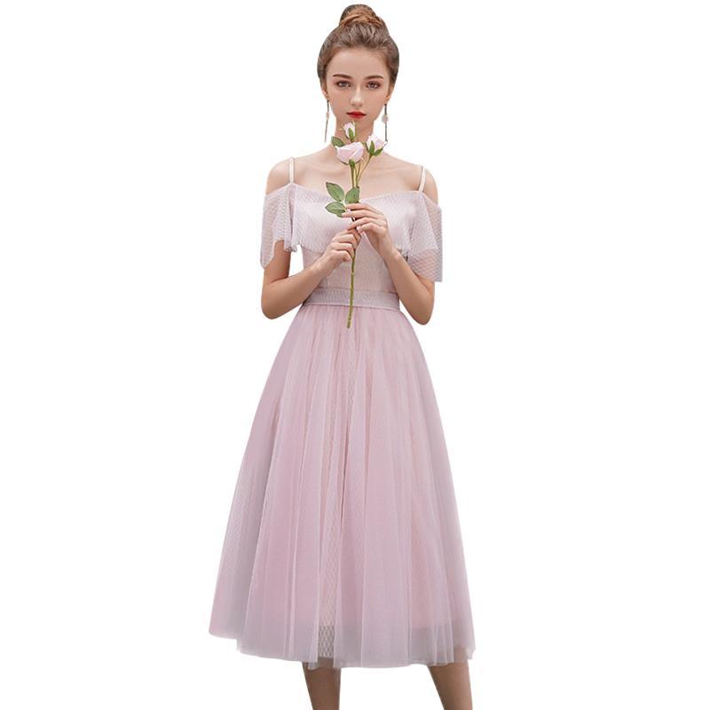Элегантное розовое платье подружки невесты когда-либо свадебные вечеринки Платья для платьев.
