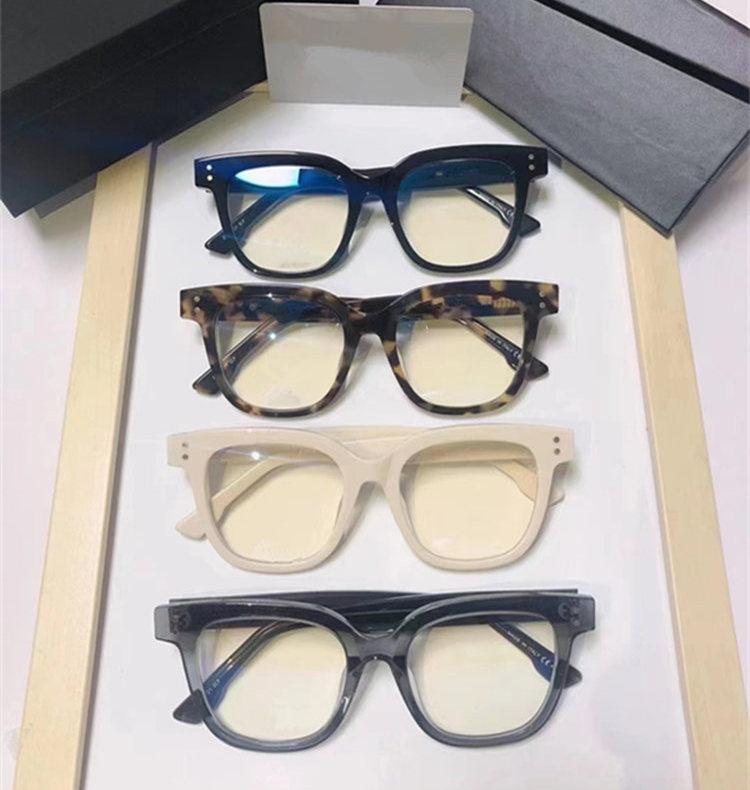 الجودة D1 موجزة سكوير بلانك fullrim إطار نظارات عادي للجنسين 50-20-145 لوحات الضوء المستوردة لصفة النظارات الكاملة حالة