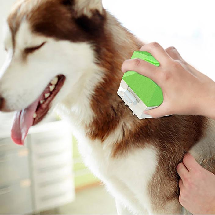 Chaud animal de compagnie bain brosse massage peigne toilettage bain brosse de bain douche pour chiens vert