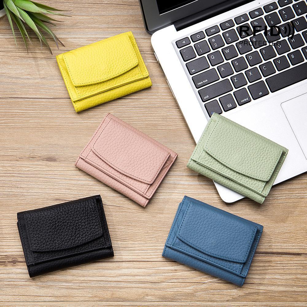 HBP RFID короткие кошельки женские кожаные кошелек мода личности карушая внешняя торговая монетка кошелек