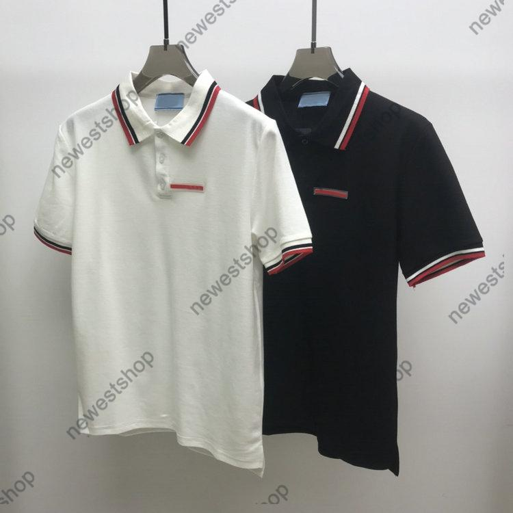 Europa Hombre letra impresión por camisetas Polos diseñador etiqueta rojo techo geometría manga impresión ropa para mujer camisa etiqueta estilo suelto