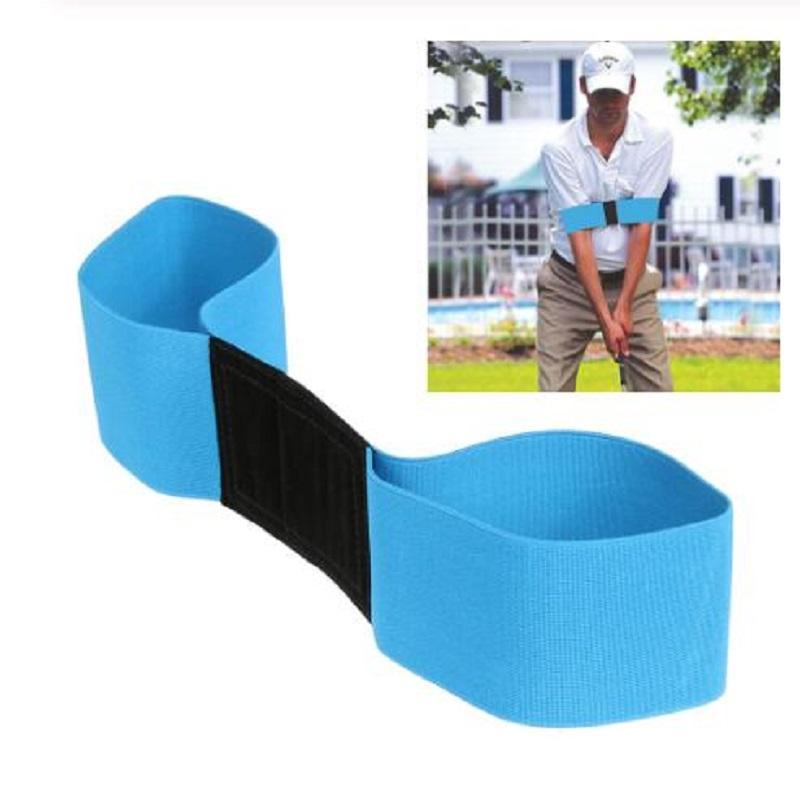 Golf Swing Trainer Trainer Trainner Tracticing Руководство по выравниванию Жест Учебная помощь СПИД Правильный Рабочий тренажер Упругая полоса arm Band 27 W2