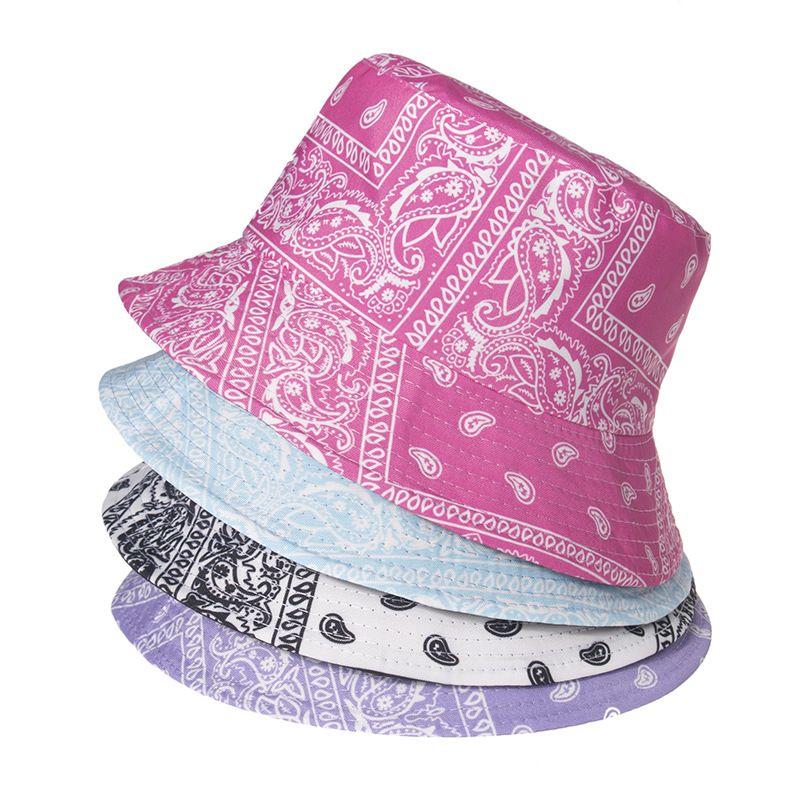 Cashew print fisherman hat men and women trendy printing Fisherman's hat street fashion pattern basin sun hat